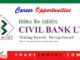 civil bank vacancy for job